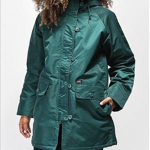 OBEY jade green winter coat